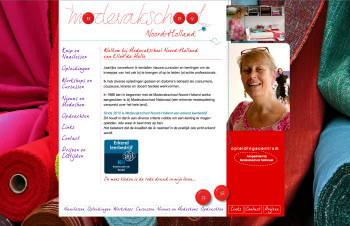 Modevakschool Noord-Holland website